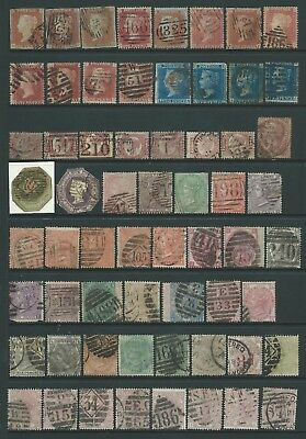 6 scans-Collection of mixed used GB QV-QEII stamps.