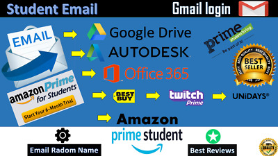 NEW EDU EMAIL = AMAZON PRIME 6 MONTHS FREE SHIPPING + Google Drive Fast delivery
