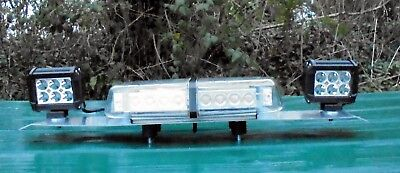 60Cm  New Amber Led Beacon Lightbar With Worklights & Controller (B374)