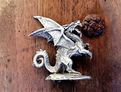 Gallo Mystical Fierce Protective Dragon Pewter Figurine, Signed Gallo &numbered