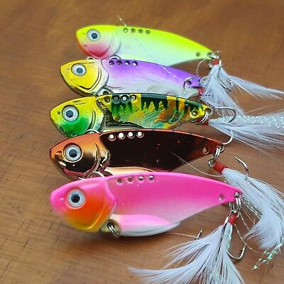 5 x Vibes Lures Trout Bass Fishing Lure Redfin Yellowbelly Perch Cod Tackle B...
