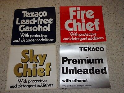 Vintage Texaco Pump Decals from the 70's