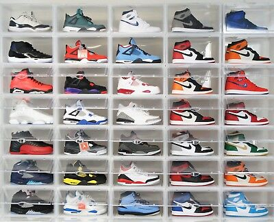 2 x Premium Clear Side Drop Mens Shoe Sneaker Box Crates storage Container rack