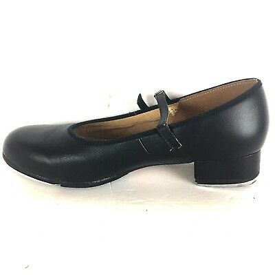 Bloch Tap Shoes Women's Size 9.5 Mary Jane Black Leather