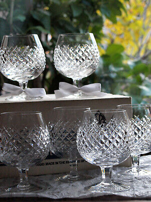 Waterford Crystal Alana Brandy Glass/ Set of 6, Vintage Made in Ireland