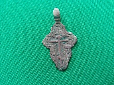 Russian Empire ancient orthodox bronze icon cross 1700-1800 original