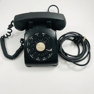 Western Electric Rotary Phone Black 1963 Vintage Bell System CD 500 Retro Tested