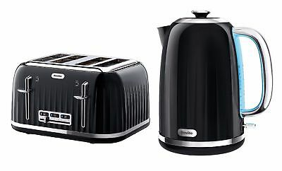Breville Impressions Kettle and Toaster Set Black Kettle 4 Slice Toaster Cheap