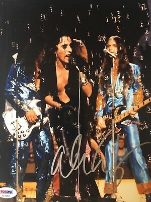Alice Cooper Autographed Signed Black Top Hat Very Rare Psa Dna Coa