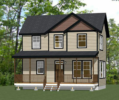 28x16 House -- 2 Bedroom 1.5 Bath -- 835 sq ft  -- PDF FloorPlan -- Model 2