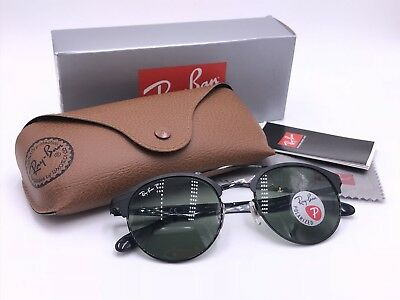 ccbbfd2995a2d NIB Ray Ban RB3545 186 9A Black  POLARIZED Green Classic G15 51mm AUTHENTIC