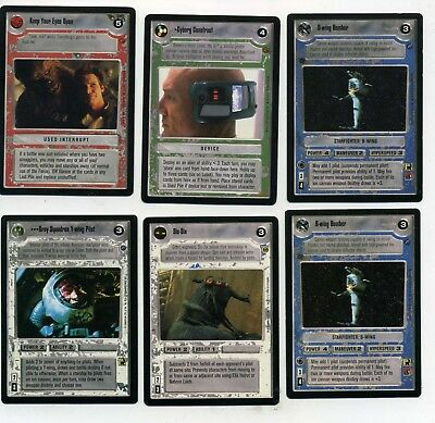 Star Wars Game Card Lot Of 6