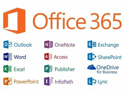 Microsoft Office 365/19 (32 or 64 bit) – Life time Subscription on 5 Device