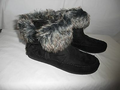 Madden Girl Moccasins Ankle Boots Shoes Slippers Black or Tan Finn 6.5 or 8 NEW