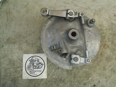 1978 Kawasaki Kz400 C1 Front Brake Plate Hub And Linkage
