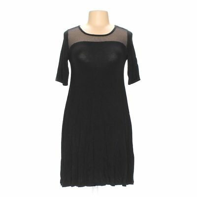 Cable Gauge Maxi Black Grey Dress With Hoodie Size S 1325