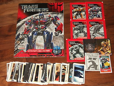 The Transformers Merlin 2007 MINT empty sticker album, loose stickers & extra's