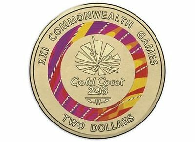 1 x 2018 $2 Dollar Coin - XXI Commonwealth Games, Host City,  Uncirculated
