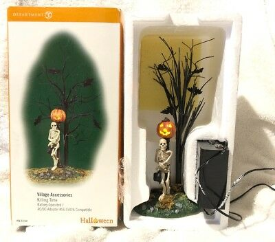 Department 56 Snow Village Halloween KILLING TIME Accessory #56.53164