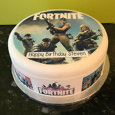 Personalised Fortnite 03 pre-cut Edible Icing Cake Topper or Ribbon Easy to use