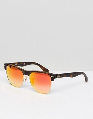 9b3d306cc9c RAY-BAN RB4175 CLUBMASTER Oversized Orange Flash Lenses Sunglasses ...