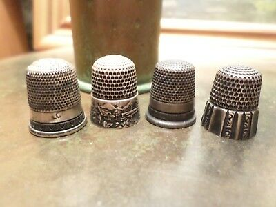 Antique Sterling Silver Thimble Lot Hallmarked Simons Brothers