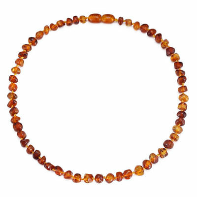 Genuine Amber Child (3yr+*) Necklace/Bracelet Beads Knotted, 4 Colors