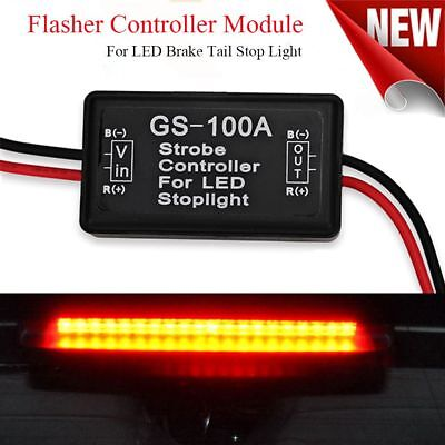 Auto Vehicle Car Strobe Controller GS-100A Flasher Module LED Brake Tail Stop