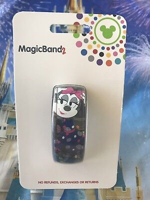 2019 Minnie Mouse Rock The Dots Magic Band 2 MagicBand Disney Parks Black Pink