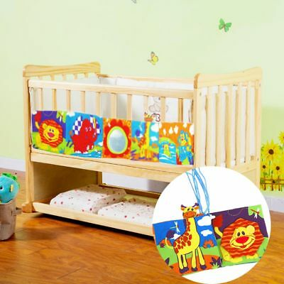 Colorful Multifunction Bedding Around Baby Toys Bed Bumper Infant Cloth Book