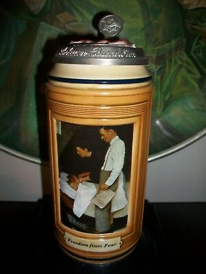 Anheuser Busch Freedom From Fear Stein Norman Rockwell 2006 Cs644 Ceramarte #058