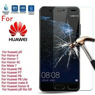 1/2X Real Tempered Glass Screen Protector Cover for Huawei P8/P9/P10 Plus/Lite