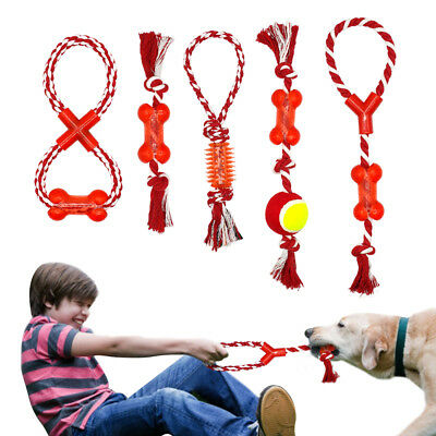 Aggressive Chew Toys for Dogs Indestructible Interactive Cotton Rope Tug Ball