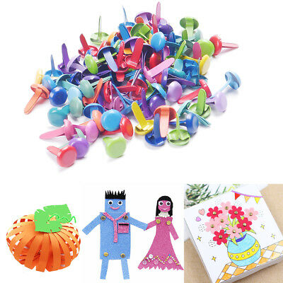 Metal Craft Multicolor Mix Brads Paper Fasteners Scrapbooking Card 50Pcs/lot