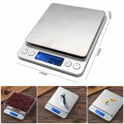 Mini 0.01g-500g Digital Pocket Scale Jewelry Gold Herb Gram Weight Scale UK NEW