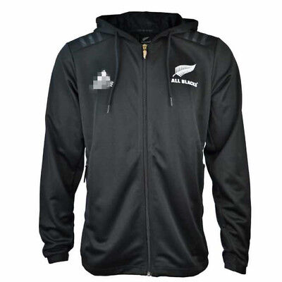All Blacks Black Hoodie Rugby Jersey Size: S-3XL