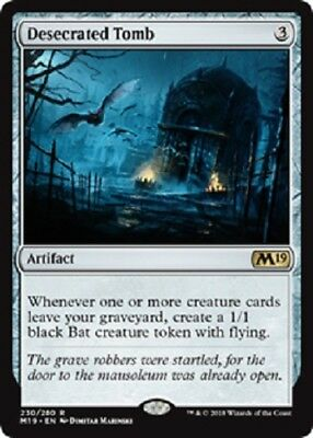 Desecrated Tomb x 4 (Core 2019) MTG (Near Mint) Ready to Ship