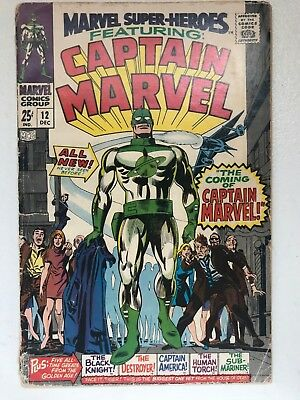 Marvel Super-Heroes #12 - 1st App Captain Mar Vell Kree VG