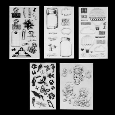 DIY Crafts Cards Clear Sheet Silicone Rubber Scrapbooking Transparent Stamps