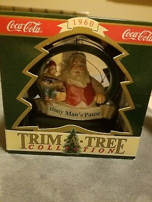 Lot of 2: COCA-COLA TRIM-A-TREE 1956 and 1960 COLLECTION ORNAMENTS