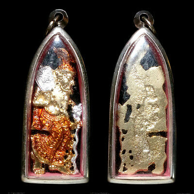 Hermit Lersi Magic Thai Buddha Amulet Pendent Love Lucky Wealth Charm Protect P2