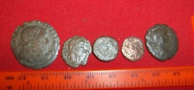 Authentic Ancient Roman Rare/Scarce Coins - total of 5 in lot