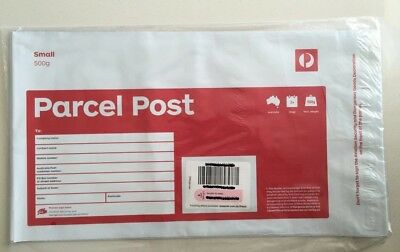 10 X 500G AUSTRALIA POST SMALL PREPAID SATCHEL Parcel Post With Tracking