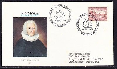 Greenland 1971 Hans Egede Arrival First Day Cover to  Australia