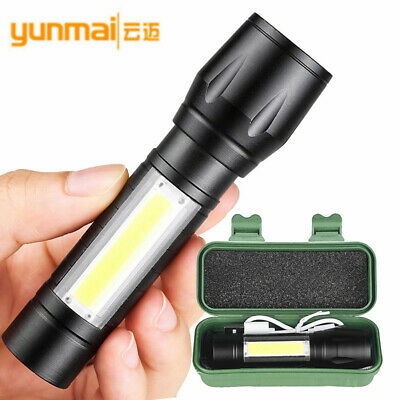 Mini USB Rechargeable COB LED Outdoor Camping Light Lamp Flashlight Torch