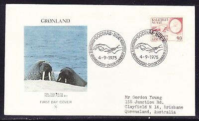 Greenland 1975 Telecommunications First Day Cover to  Australia