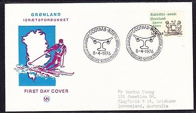 Greenland 1976 Sport Publicity First Day Cover to  Australia