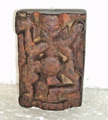 Rare Vintage Indian Tribal Hand Carved Unique Wooden Tribal God Statue & Figures