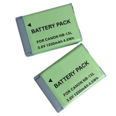 1x NB-13L Battery For Canon G7 X Mark II G7X PM165 G5 X G5X G9 X G9X SX620 SX720