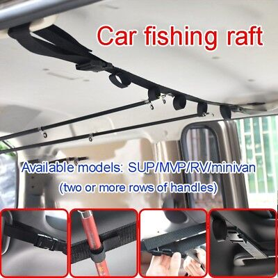 Car Suv Roof Rack Fishing Rod Transportation System 4